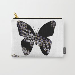 Butterfly & Flowers Carry-All Pouch