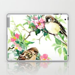 Sparrows and Apple Blossom Laptop & iPad Skin