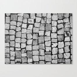 portuguese sidewalk Canvas Print