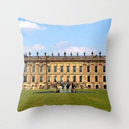 Chatsworth House Throw Pillow