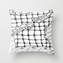 Dragon flowers Throw Pillow