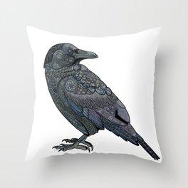 Celtic Raven Throw Pillow