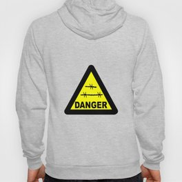 Triangle Barbed Wire Warning Sign Hoody