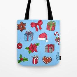 Christmas pattern (#1 blue) Tote Bag