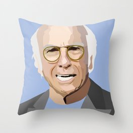 Portrait of Larry Throw Pillow