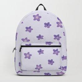 Abstract lilac violet lavender modern floral pattern Backpack