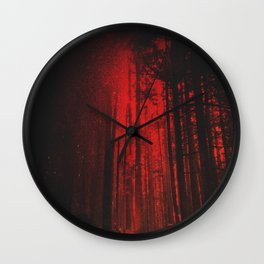 Crimson Vancouver Forest Wall Clock