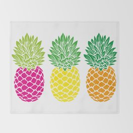 Pineapple Trio Throw Blanket