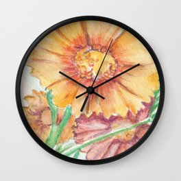 Calliopsis Seed Pack Wall Clock