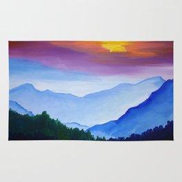 Smokey Mountain Sunset Rug