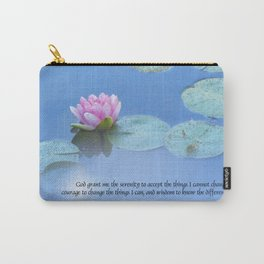 Serenity Prayer Pink Water Lily Carry-All Pouch