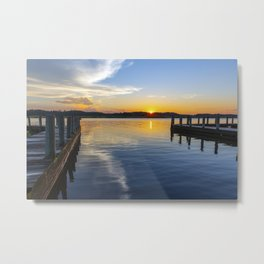 Sunset at the Boat Ramp Metal Print