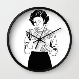 Audrey Horne inspired drawing Wall Clock