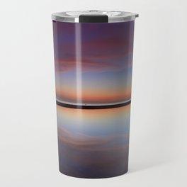 Purple sunset at the beach. Tarifa beach Travel Mug