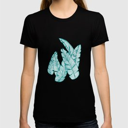 Banana Leaves on Teal #society6 #decor #buyart T-shirt