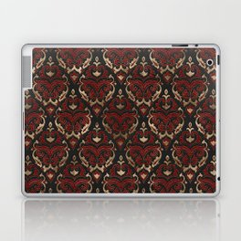 Persian Oriental Pattern - Black and Red Leather Laptop & iPad Skin