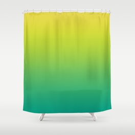Meadowlark, Lime Punch, Arcadia Blurred Minimal Gradient | Pantone colors of the year 2018 Shower Curtain