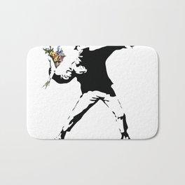 Banksy Flower Thrower Bath Mat