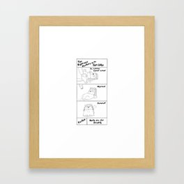 The Righteous Verdicts of the Cat Judge Framed Art Print
