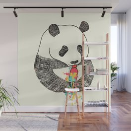 Panda Loves Ice Cream Wall Mural