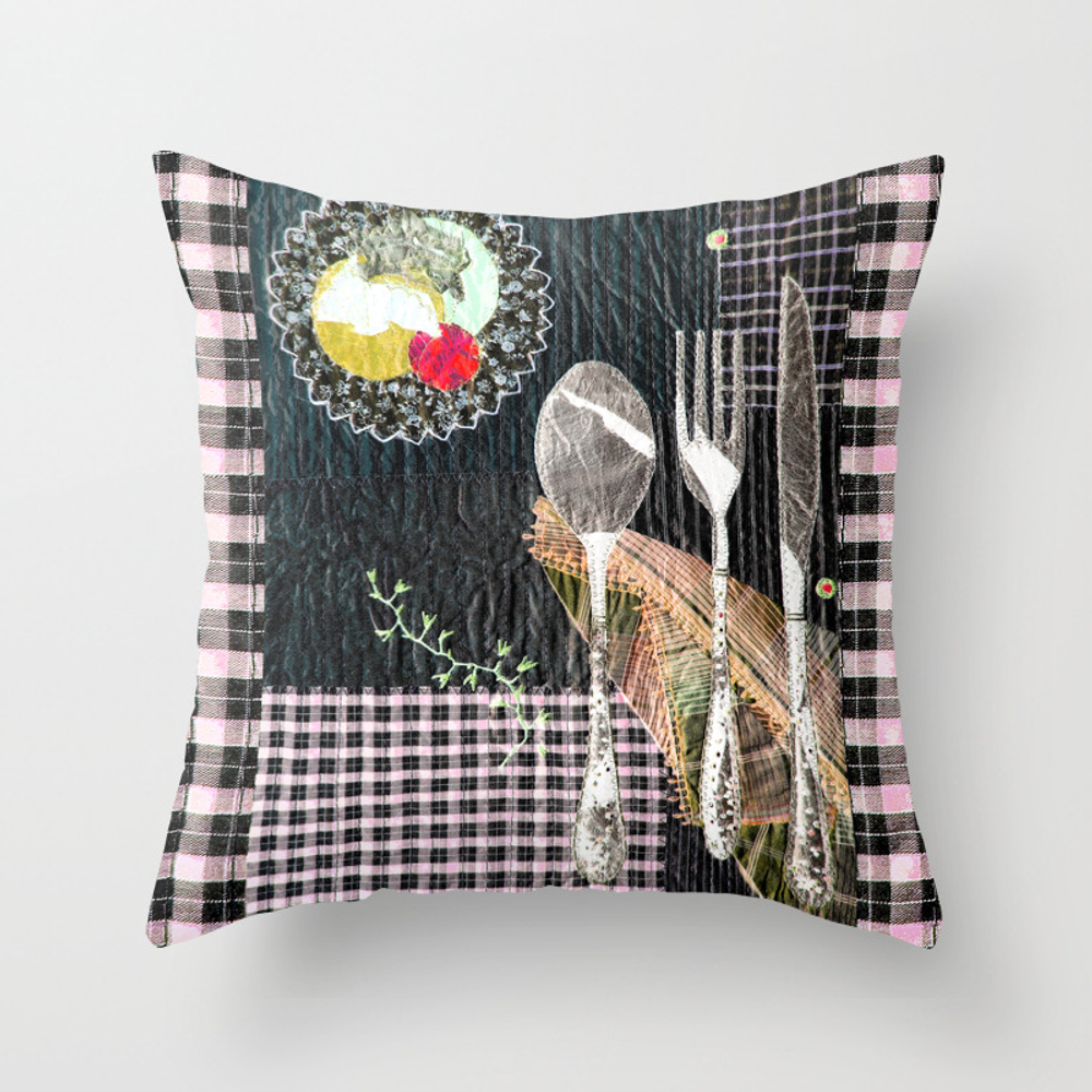 Late Night Dinner Throw Pillow by Bozenawojtaszek PLW9142177