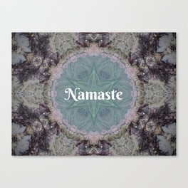 Ocean Nature Art Namaste photograph coastal decor, yoga studio art yogi Canvas Print