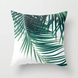 Palm Leaves Green Vibes #4 #tropical #decor #art #society6 Throw Pillow
