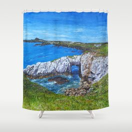 Gromllech Rock Arch Shower Curtain