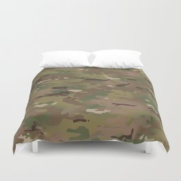 Military Woodland Camouflage Pattern Duvet Cover