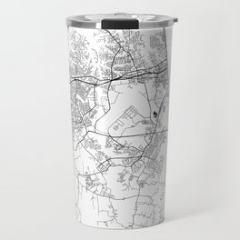 Minimal City Maps - Map Of Virginia Beach, Virginia, United States Travel Mug