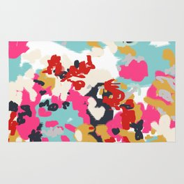 Inez - Modern Abstract painting in bold colors for trendy modern feminine gifts ideas  Rug