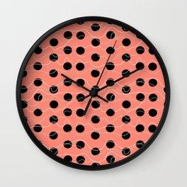 Coral dots Wall Clock