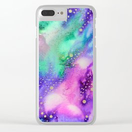"""Cosmic Lights"" Clear iPhone Case"