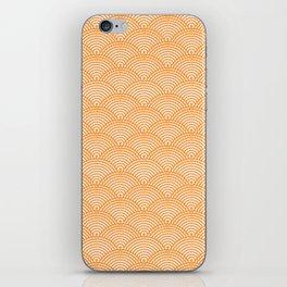 Japanese Dots Fade Tangerine iPhone Skin