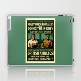 British rugby, football players call for duty Laptop & iPad Skin