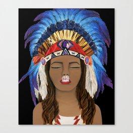 Native Inhale Canvas Print