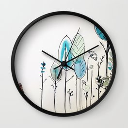 renard roux - red fox  Wall Clock