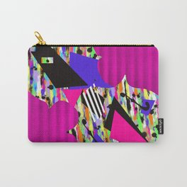 Cello Abstraction on Hot Pink Carry-All Pouch