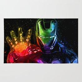 Avenger Infinity Wars Iron Man Abstract Painting - Iron Man Graffiti Rug