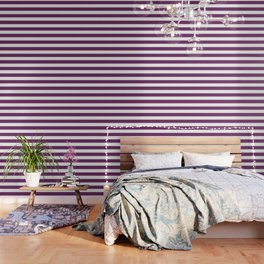Byzantium - solid color - white stripes pattern Wallpaper