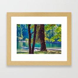 Cultas Lake Provincial Park Framed Art Print
