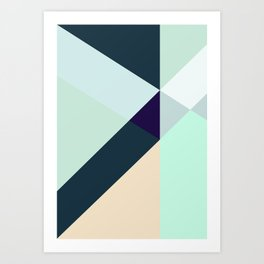 GREEN LOVES BLUE Art Print