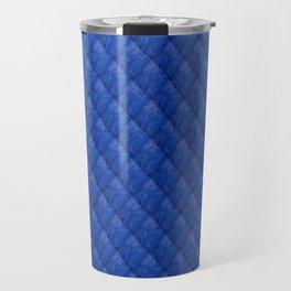 Blue Diamond Pattern Curtain Travel Mug