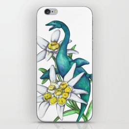 E is for Elasmosaur and Edelweiss iPhone Skin