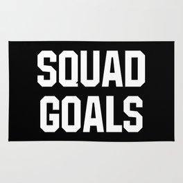Squad Goals (Black & White) Rug