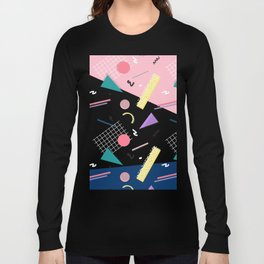 Dreaming 80s Pattern #society6 #decor #buyart Long Sleeve T-shirt