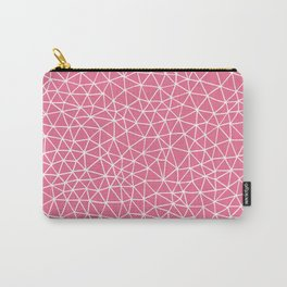 Connectivity - White on Pink Carry-All Pouch