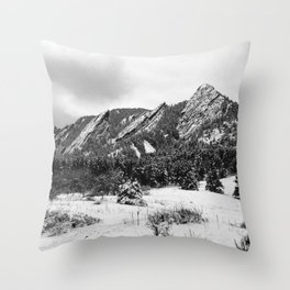 Flatirons - Neopan 1600 Throw Pillow