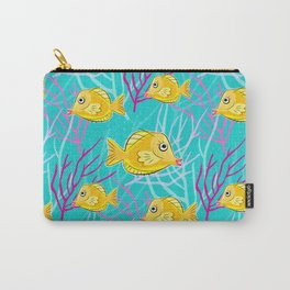 Yellow Tang in Coral Sea Carry-All Pouch
