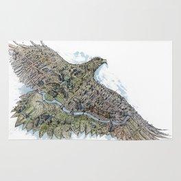 Gold eagle and Astana Rug